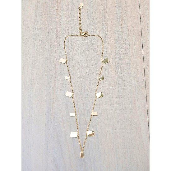 NECKLACE WITH ROMBS