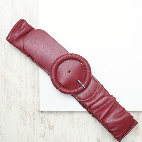 ELASTICATED BELT WITH GATHERS