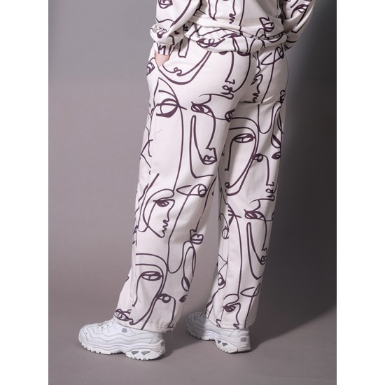 FACE PRINT TROUSERS