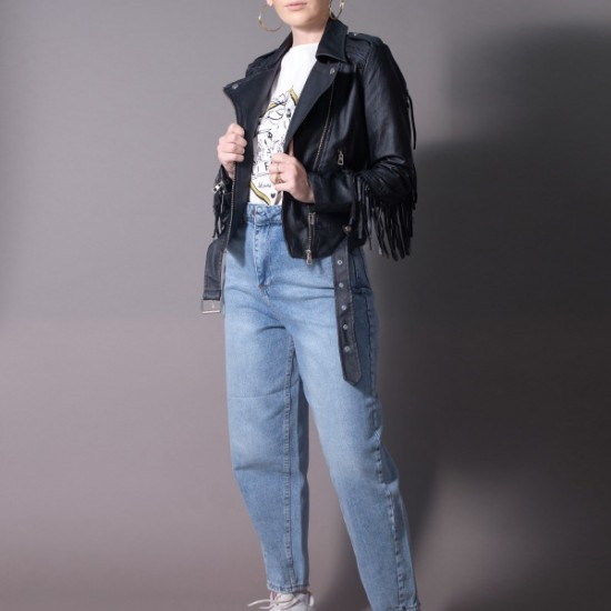 JACKET WITH TASSELS