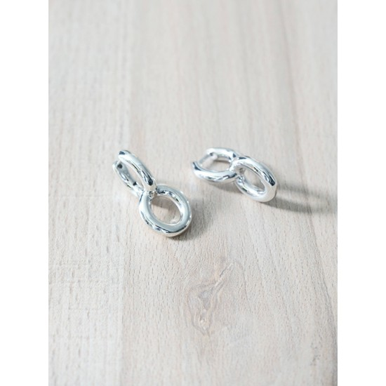 DOUBLE RING EARRING