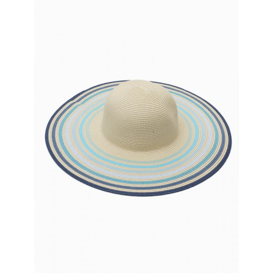 STRAW HAT WITH COLOURED TAPES