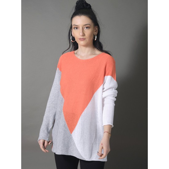 BLOCK COLOUR KNITTED TOP