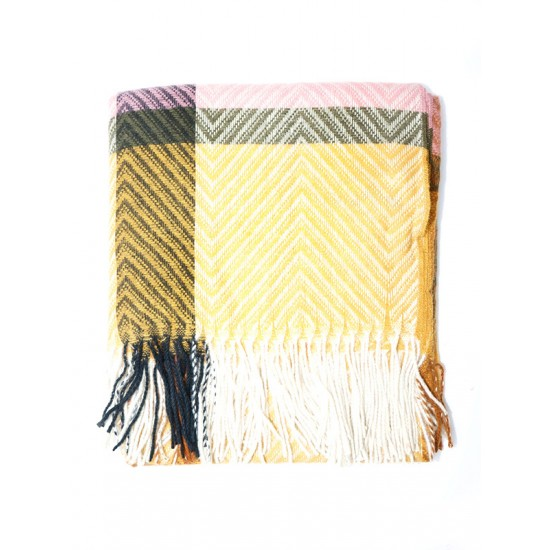 SCARF WITH LARGE CHECKS