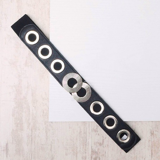 ELASTICATED BELT WITH RINGS