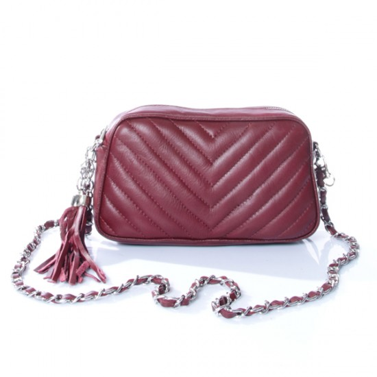 LEATHER QUILTED  BAG