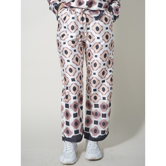 CROPPED PRINTED TROUSERS